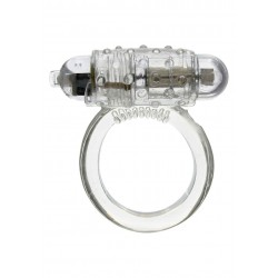 Anello vibrante bianco  Cockring Black